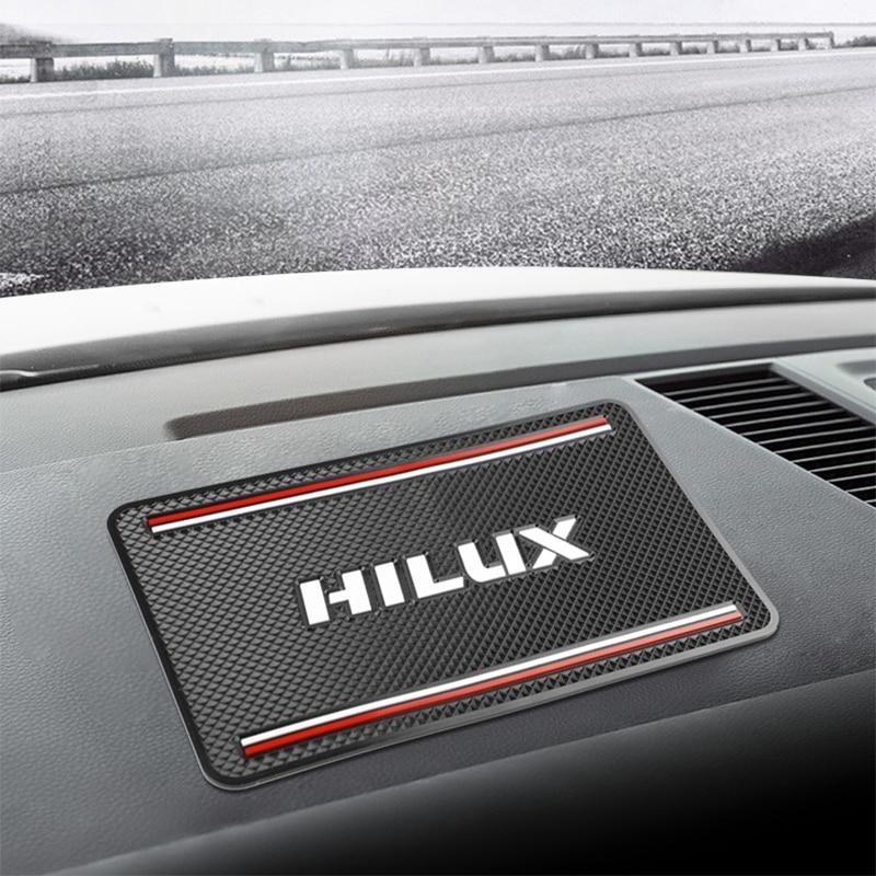 1 Uds alfombrilla antideslizante para coche, alfombrilla antideslizante para Toyota Hilux surf vigo revo 2017 2018, accesorios de diseño para coche