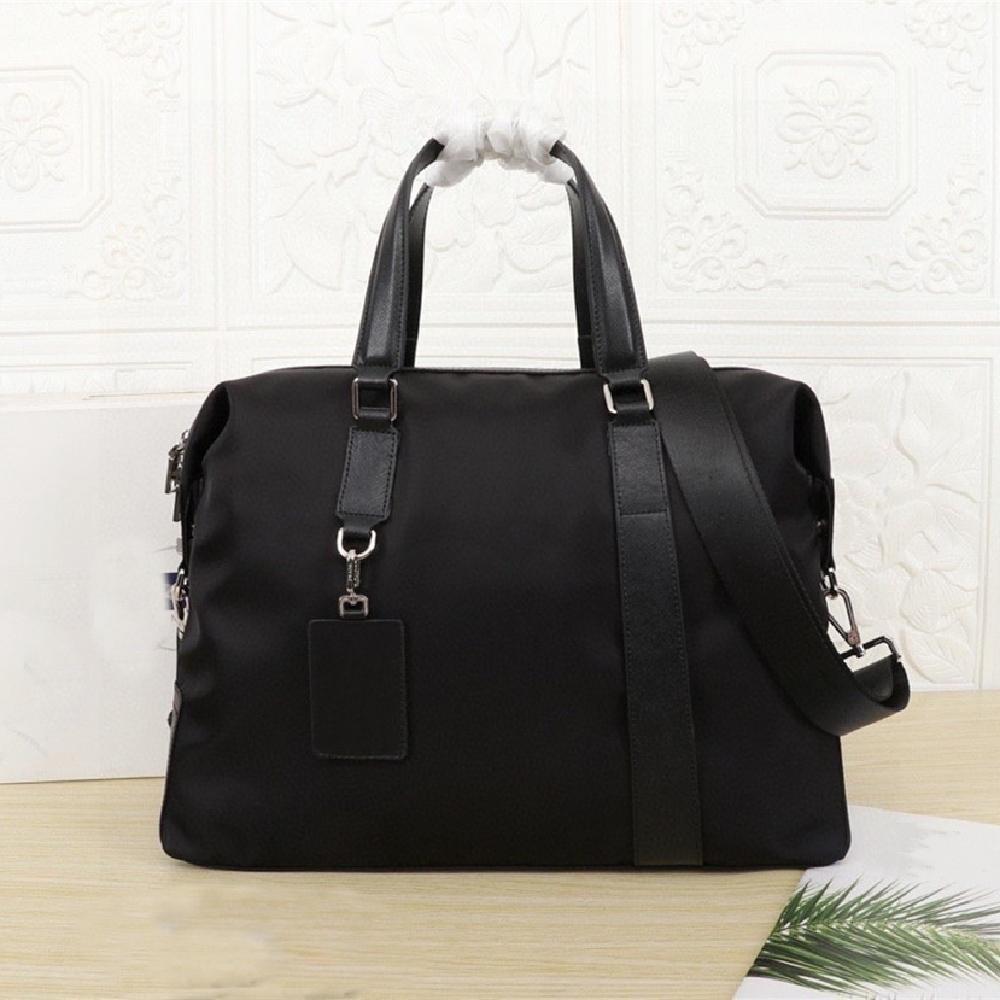 2021 Men's black nylon canvas waterproof travel simple leisure luggage sports outdoor large capacity classic handbag