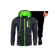 Kleidung männer Mode Trainingsanzug Casual Sportsuit Männer Hoodies Sweatshirts Sportswear Mantel + Hose Männer Set