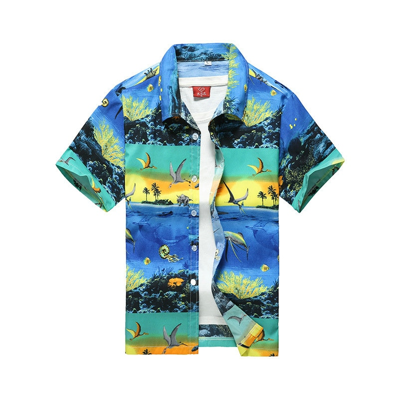 Casual Mens Short Sleeve Beach Hawaiian Shirt Tropical Summer Printing Button Down Shirts Men Plus Size S-5XL camisa masculina mens beach hawaiian shirt tropical summer short sleeve shirt men brand clothing casual loose cotton shirts plus size