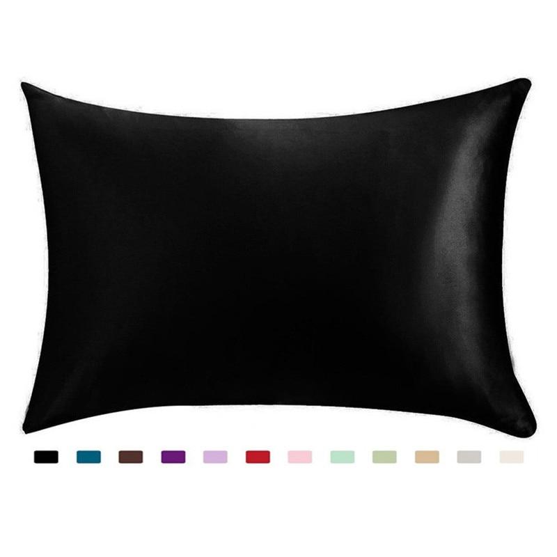 100% Silky Satin Hair Beauty Pillowcase, Standard/Queen 1PC