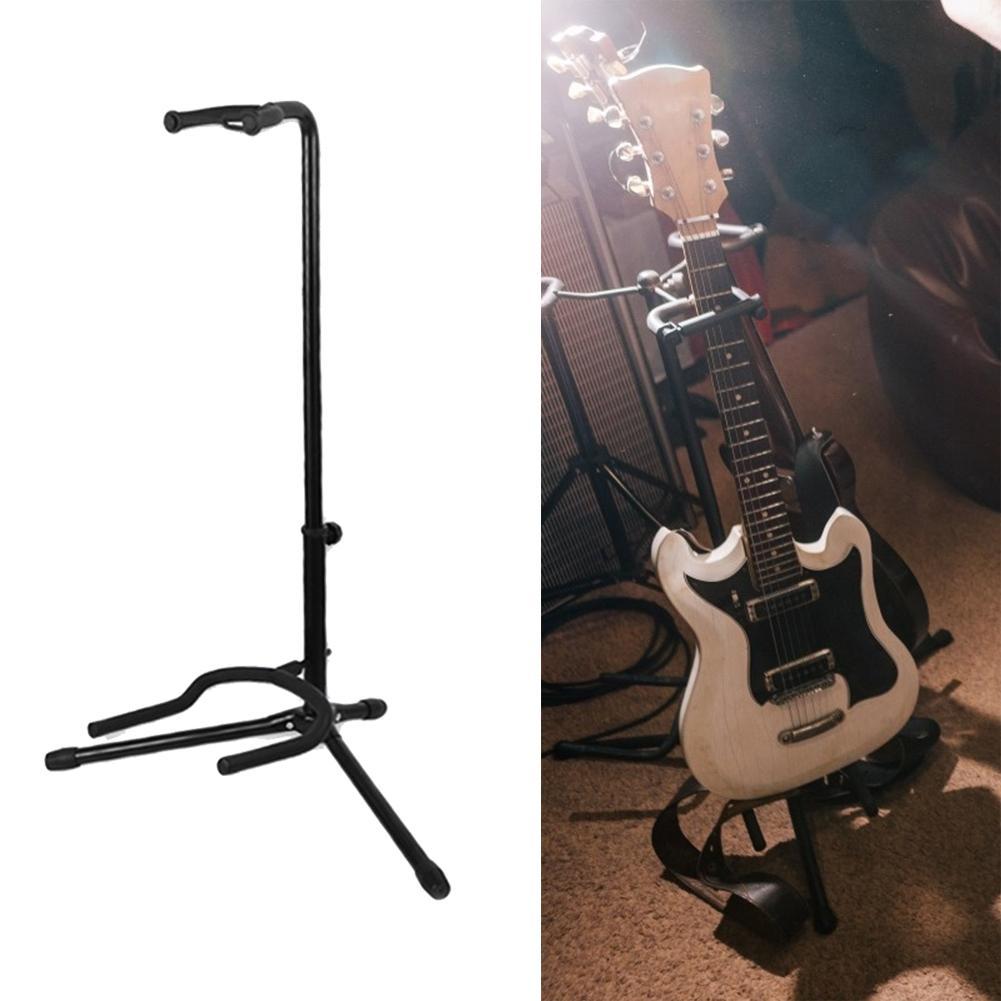 Venda quente suporte de guitarra textura delicada portátil suporte de chão guitarra lute baixo display rack instrumento musical acessório