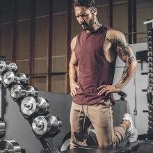 Mannen Quick Dry Tank Tops Running Vest Fitness Mouwloze Hemdjes Mannelijke Gym Tank Top Mannen Losse Sport Vest Plus size