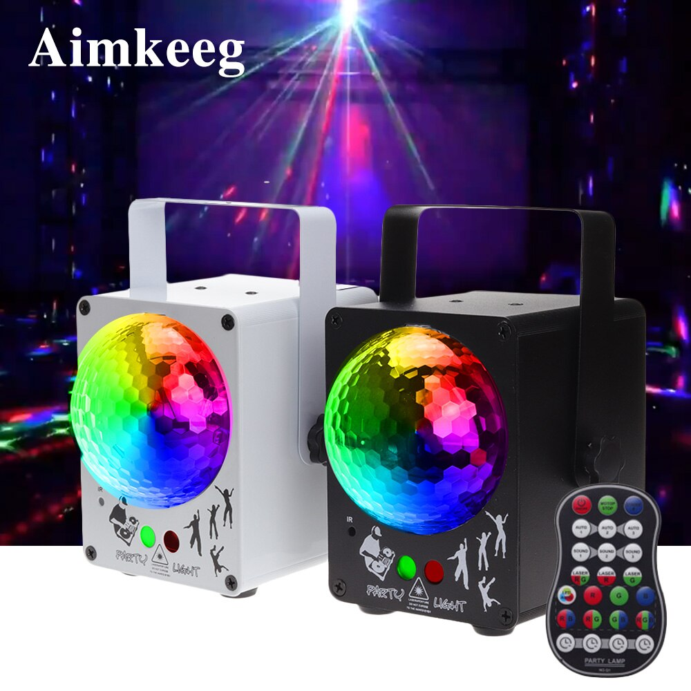 Aimkeeg LED Disco Laser Light RGB  Projector Stage Party Lights DJ Lighting Effect for home Wedding Christmas Decoration disco dj light co2 gun pistola co2 rgb gun co2 airsoft air guns jet machine for christmas halloween wedding party stage effect