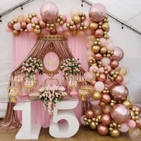 182pcsset rose gold pink balloons garland arch kit gold confetti balloon for girl baby shower wedding birthday party decoration