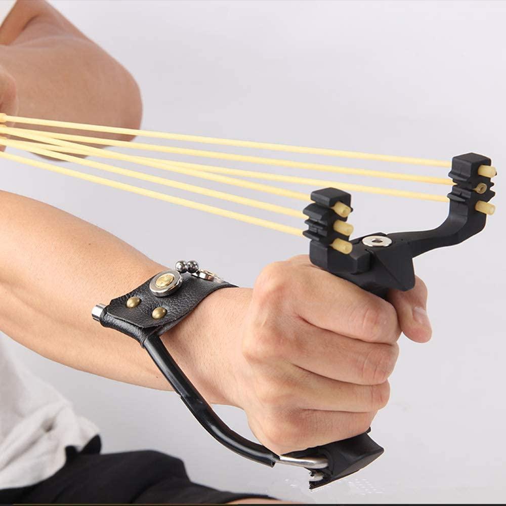Hunting Slingshot Outdoor Professional Slingshot Set Metal Wrist Rocket Slingshot with High Velocity Catapult for Adult and Kids