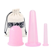 3 PCS Vacuum Silicone Suction cups massage jars therapy set Face cupping anti cellulite For Pain Rel