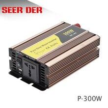 Solar power 110v/220v 300w 12v 24v reine sinus-wechselrichter