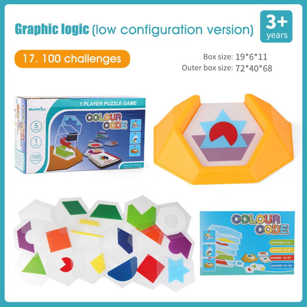 Jogos de código de cor pré-escolar lógica jigsaws para crianças figura cognição espacial pensar brinquedo educacional habilidades de aprendizagem segura animal estimação