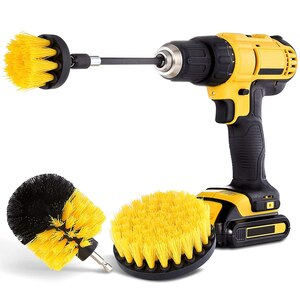 2/3.5/4'' Electric Scrubber Brush Drill Brush Kit Plastic Round Cleaning Brush Tool for Carpet Glass Car Tires Nylon Brushes