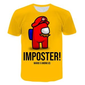 Children's Clothing Popular video Game in the U.S. kids Among us Toddler T-shirt impostor print O-neck Short-sleeved Fashion