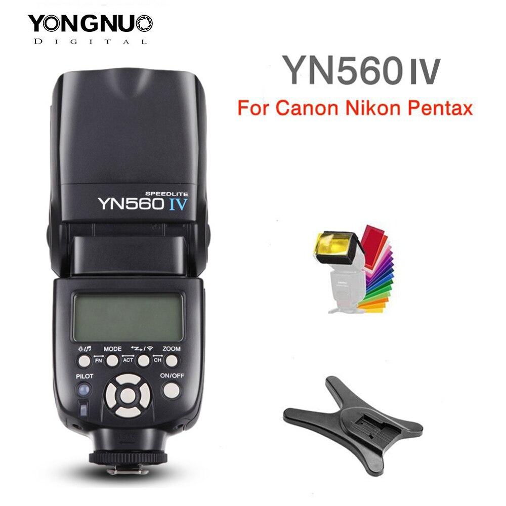 Беспроводная вспышка yongnuo YN560 IV YN560IV 2,4G для камеры Nikon Canon Pentax Olympus Pentax DSLR + подарок