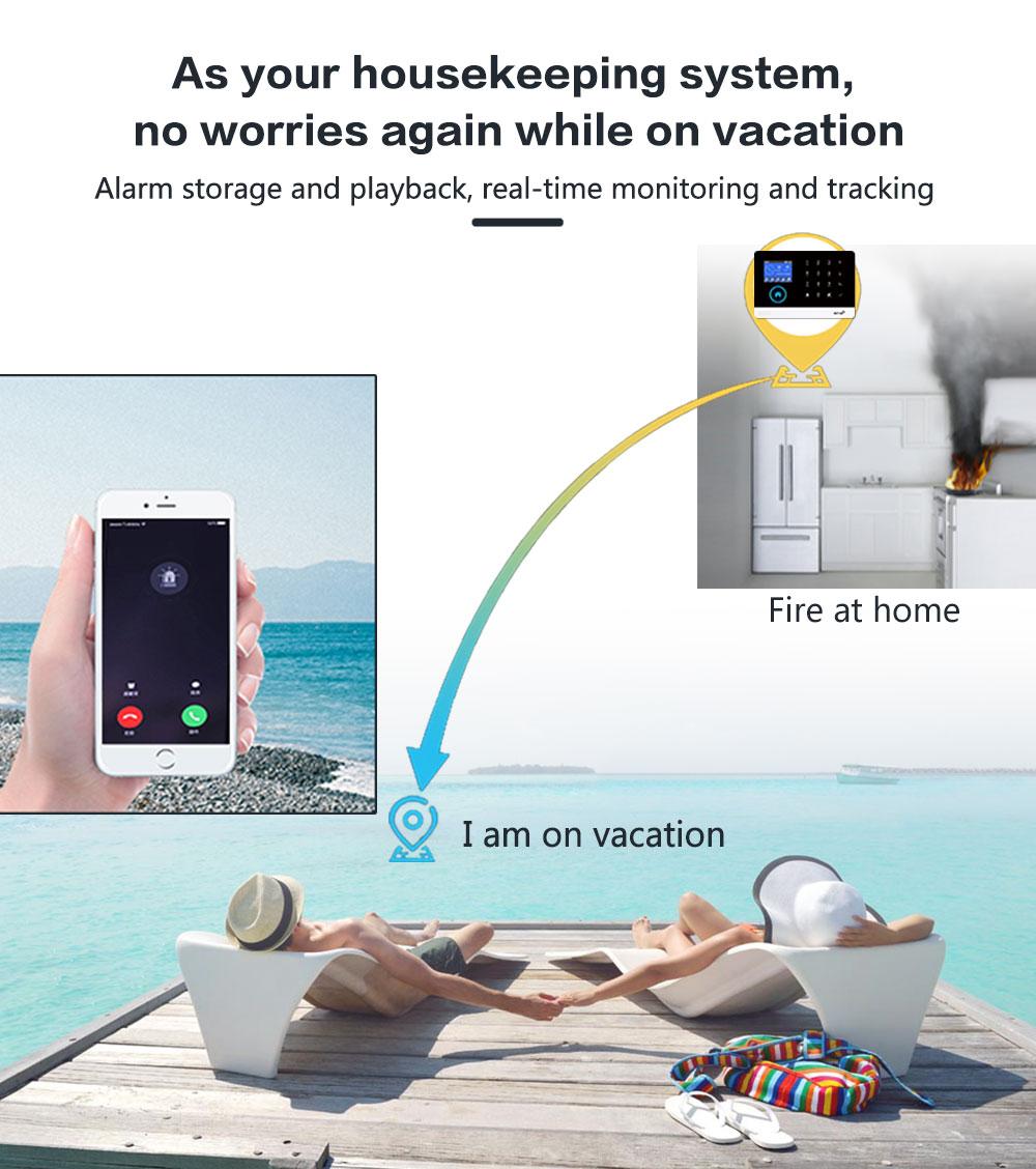 WIFI GSM Home Security Alarm System With Wireless Pet-Proof PIR Motion Sensor Detector Burglar Anti Theft For TUYA Smartlife APP enlarge