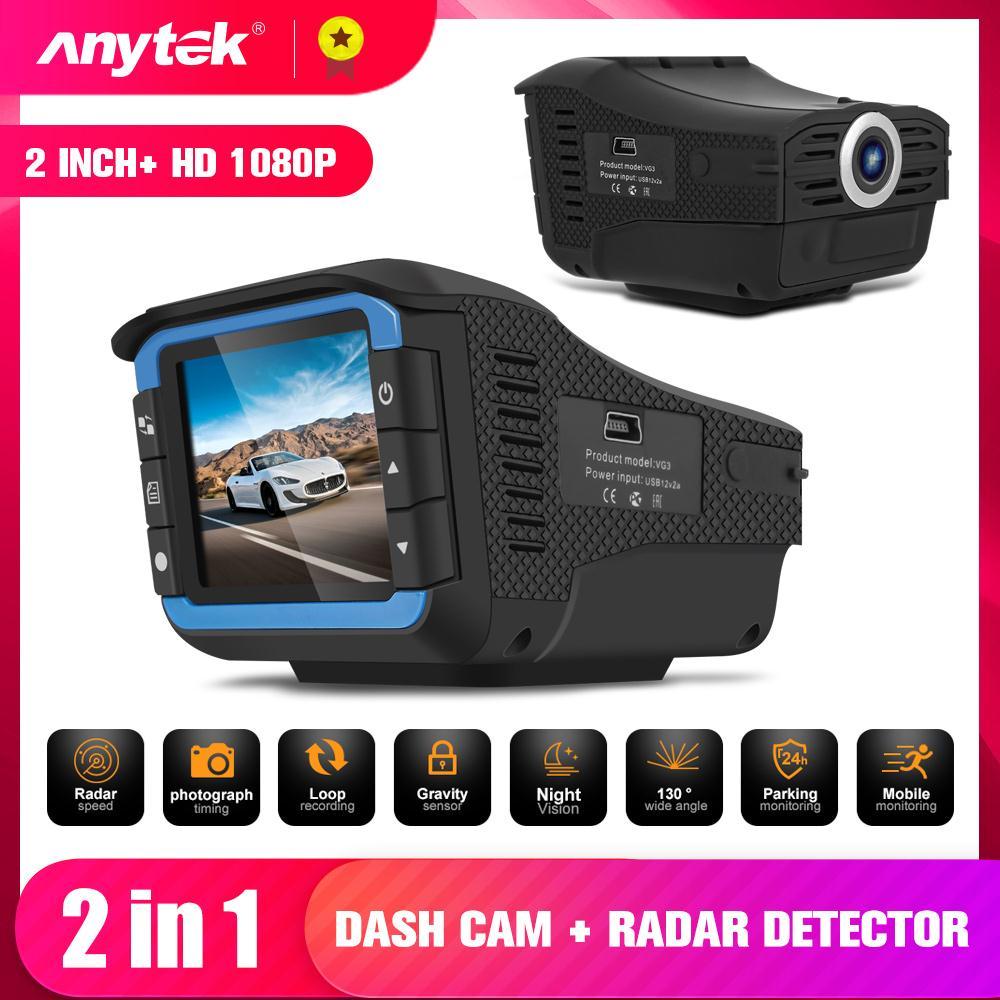 VG3 داش كاميرا الروسية والإنجليزية صوت المرور تنبيه 1080P رادار سرعة الكاشف 2in1 2 بوصة Cra مسجل كاميرا السيارة مزودة بجهاز تسجيل فيديو