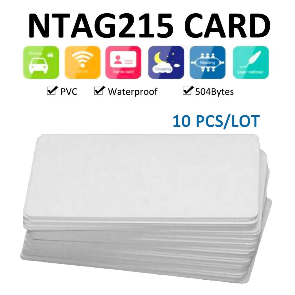 Etiqueta de tarjeta NTAG215 NFC resistente al agua 10 Uds. Para TagMo Forum Type2, etiquetas NFC, Chip Ntag 215, lectura de 504 bytes