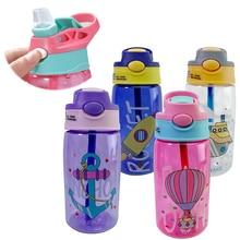Taza Sippy de agua para niños, vasos creativos de dibujos animados para alimentación de bebés con pajitas, botellas de agua a prueba de fugas, tazas portátiles para niños al aire libre