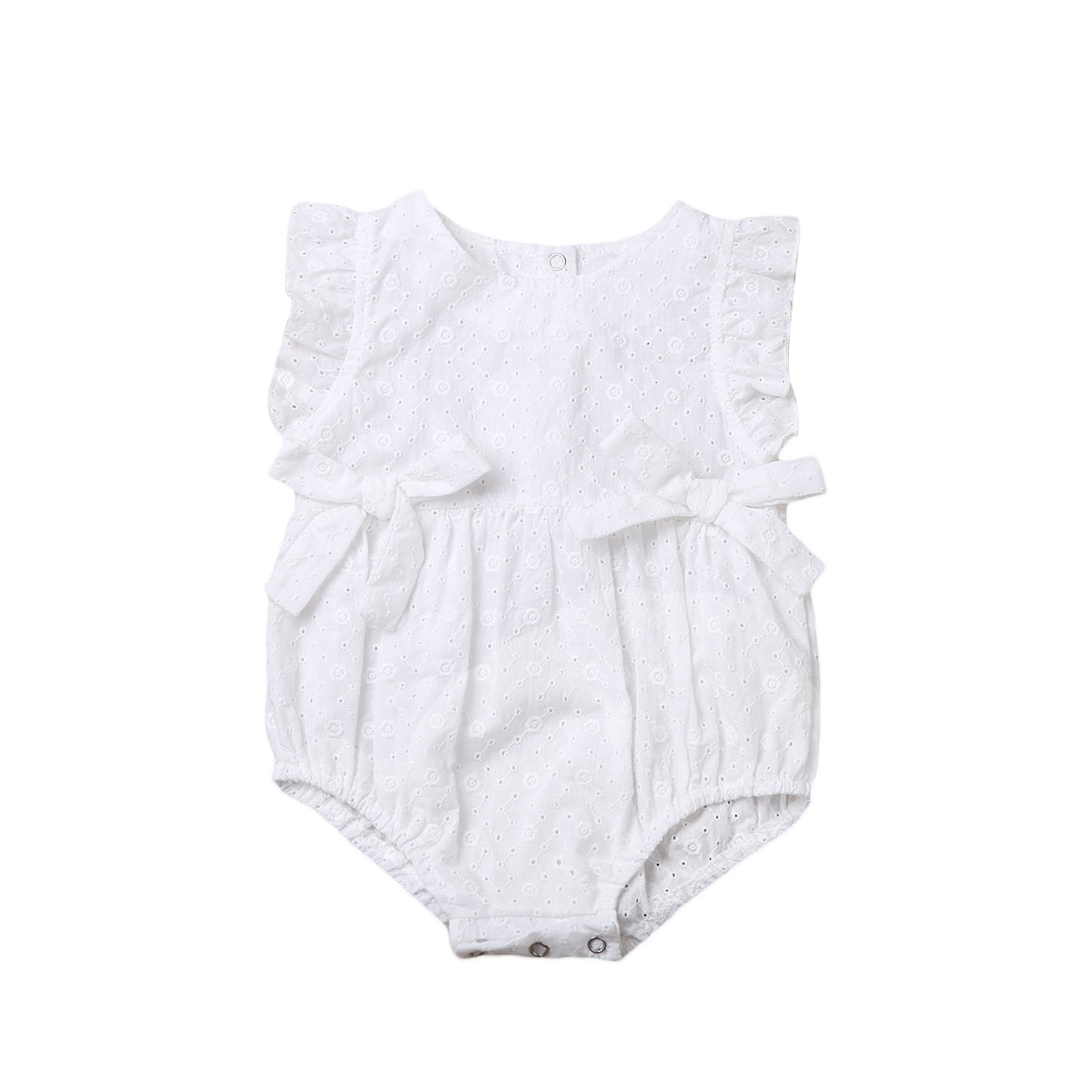 Newborn Infant Baby Girl Clothes Summer Sleeveless Flower Print Hollowing Out Romper Jumpsuit Outfit Sunsuit Clothes 0-24M