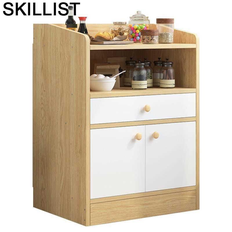 Armario lateral de almacenamiento para Cocina, mueble de mesa auxiliar para Buffet