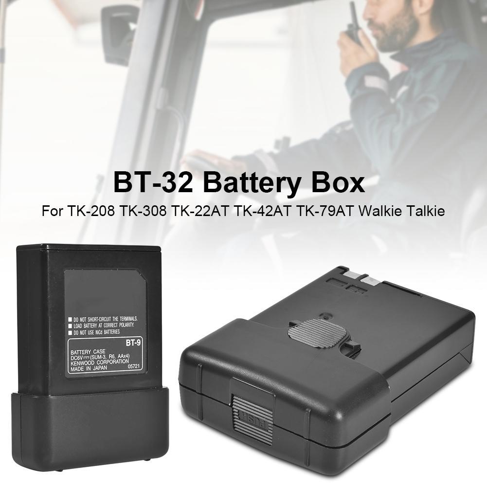 BT-32 caixa de bateria para rádios em dois sentidos kenwood TK-208 TK-308 TK-22AT TK-42AT TK-79AT walkie talkie para oppxun 5 aa bateria caso