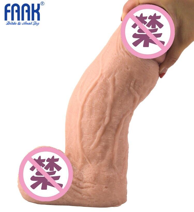FAAK gran Consolador grueso pene enorme Artificial Godemichets realista íntimo productos para las mujeres juguetes Sexy consoladores grandes rey Polla
