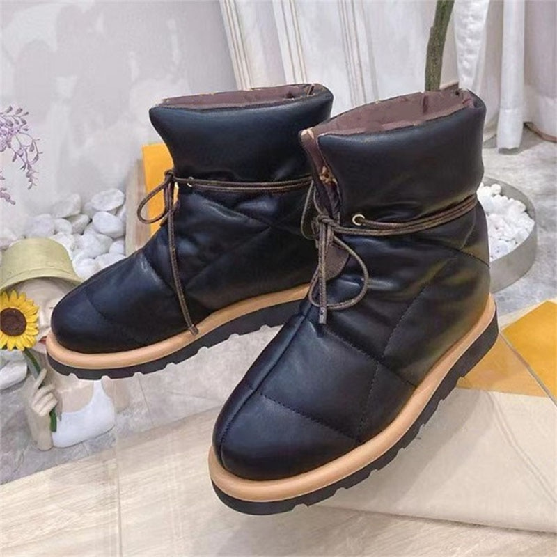 Down Snow Boots 2021 Winter Waterproof And Warm Short-tube Cotton Shoes Plus Velvet Padded Non-slip