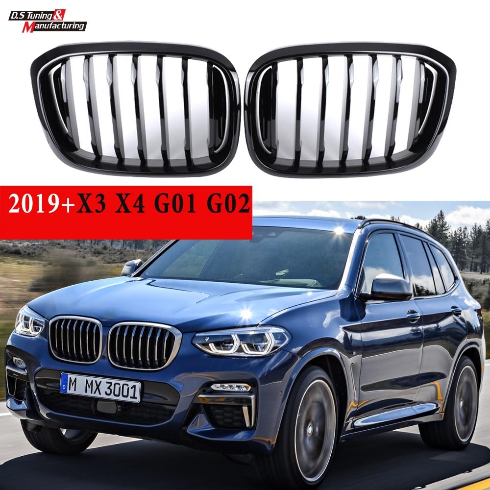 Rejilla negra para BMW 2019 nuevo X3 G01 X4 G02 X3M F97 X4M F98