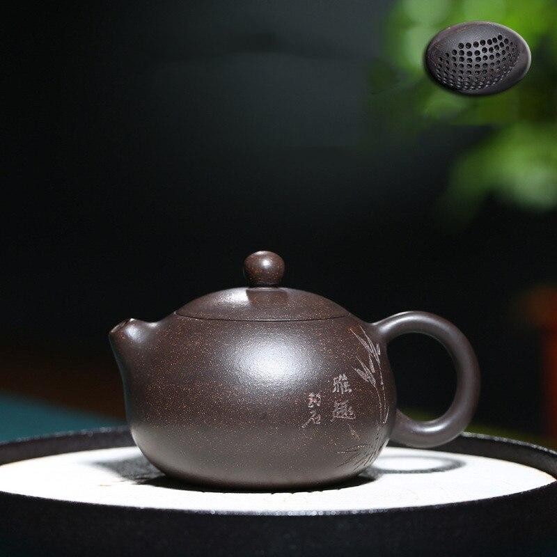 Yixing-إبريق شاي يدوي الصنع ، إبريق شاي xishi مع فلتر طين أرجواني ، غلاية تجميل ، خام ، ربطة عنق Guanyin أصلية مخصصة ، 170 مللي