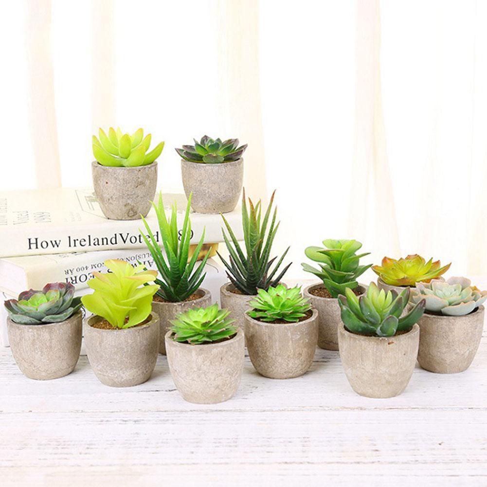 Nueva flor Artificial, planta suculenta, pulpa de papel, maceta, adorno para bonsái, decoración para jardín