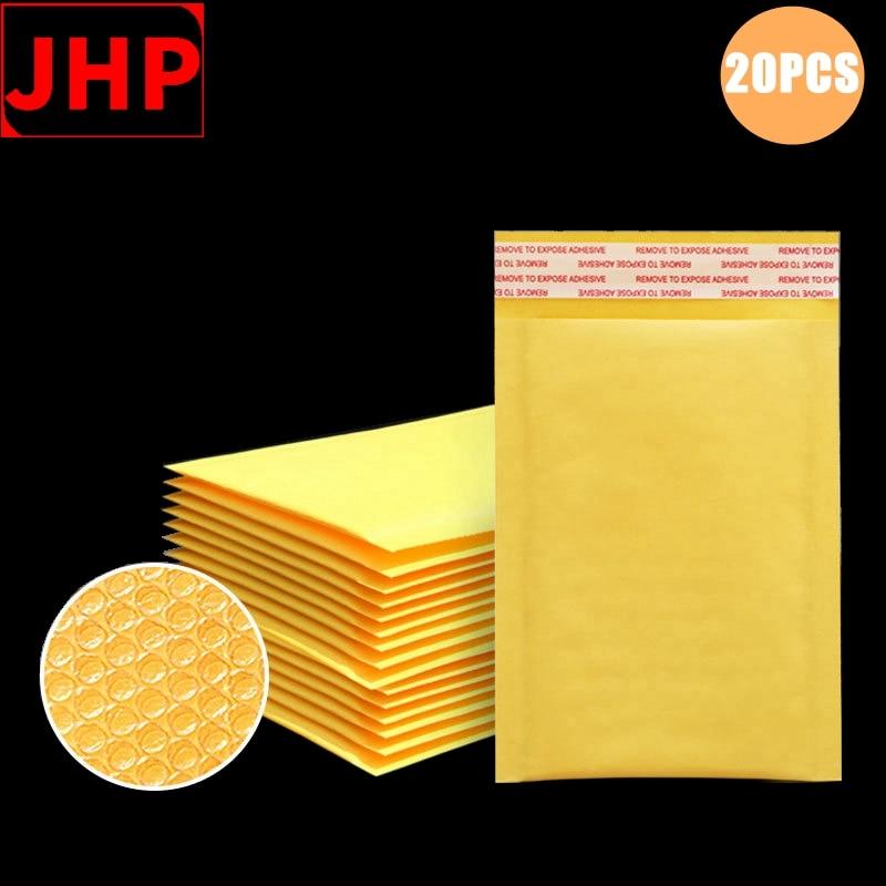 20PCS Kraft Paper Bubble Envelope Bag,Bump-Proof Custom Mailer Bags,Self Sealing Packing Bags for Express Package