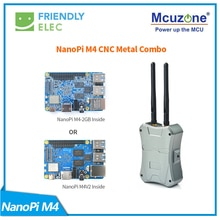 NanoPi M4-2GB/M2V2 صندوق معدني باستخدام الحاسب الآلي كومبو Rockchip فريندليك RK3399 SoC 2.4G & 5G ثنائي النطاق واي فاي + بلوتوث 4.1 أوبونتو أندرويد