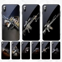 sniper rifle phone case for iphone 11 pro xr xs max 8 x 7 6s 6 plus tempered glass cove fundas