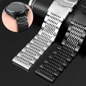 20mm 22mm For Samsung Galaxy 3 Watch 42 46mm GEAR S3 Active2 Classic quick release Stainless Steel Watchband for Seiko watches