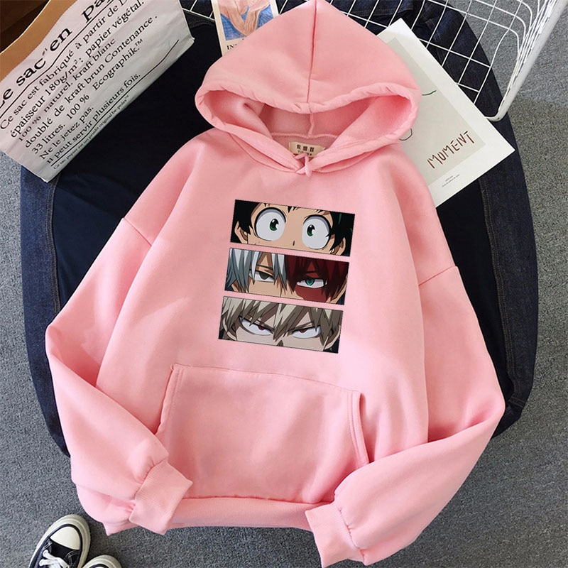 My Hero Academia Men Female Hoodies Autumn Casual Pullover Sweats Hoodie Fashion Sweatshirts Japan Anime Hip Hop Sweatshirt Clot