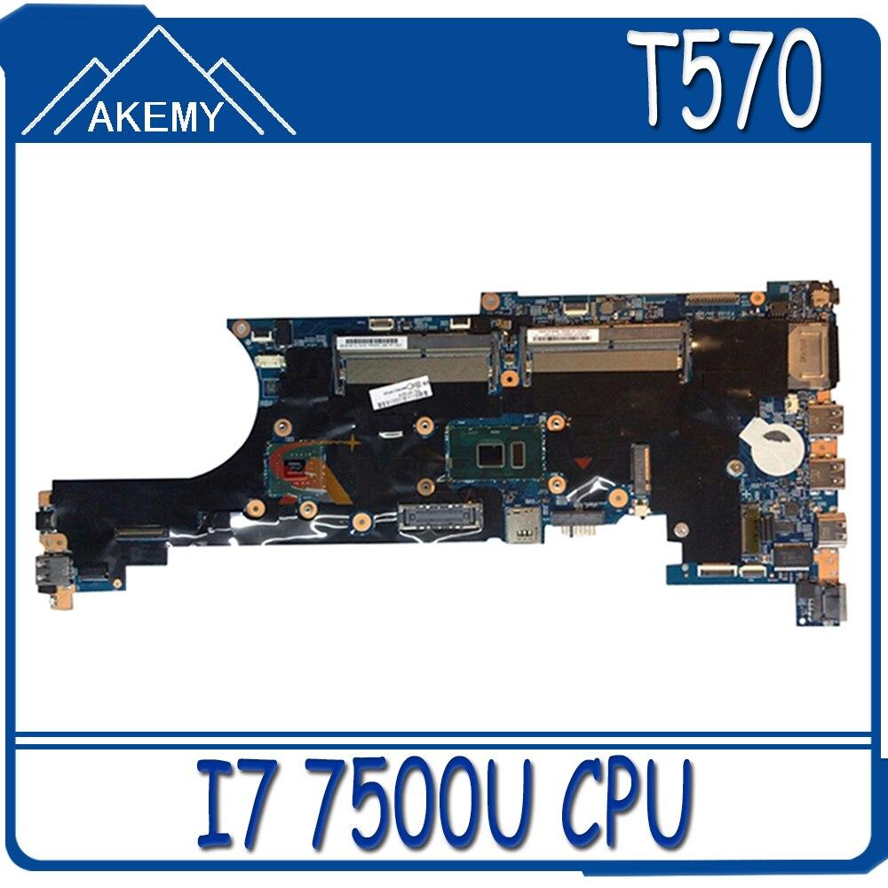 Akemy 448.0AB06.0011 اللوحة لينوفو ثينك باد T570 P51S دفتر اللوحة CPU I7 7500U DDR4 100% اختبار العمل