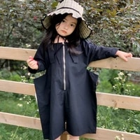 mihkalev fashion 2021 spring autumn kids pants for girl overalls baby girl zipper jumpsuits children casual trousers