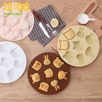 3d silicone animal cookie stamp biscuit mold cookie cutters diy cake baking mold cookie chocolate soap mold kitchen bakeware