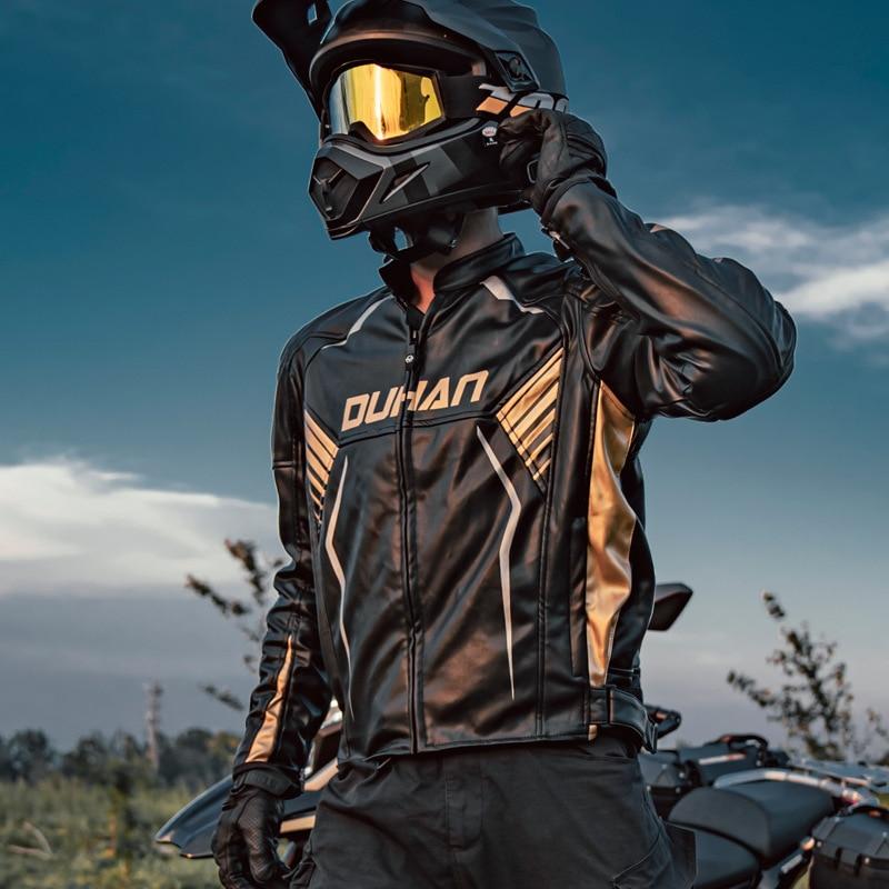 جديد دراجة نارية الدراجات الملابس الرجال والنساء زوجين معطف جلد يندبروف الدافئة قطرة مقاومة دراجة نارية بدلة سباق