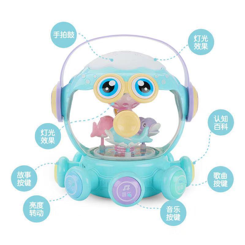 pouco octopus mao tambor alegria musica roda universal rotativa tambor octopus recarregavel