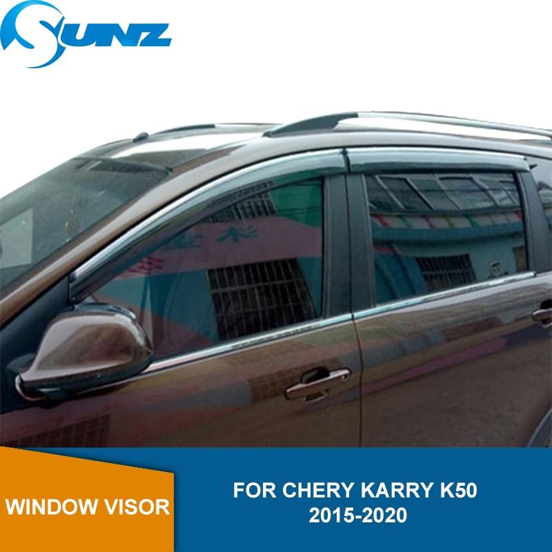 Side Window Visor For Chery Karry K50 K50S K60 2015 2016 2017 2018 2019 2020 Sun Rain Deflector  Weather Shield SUNZ