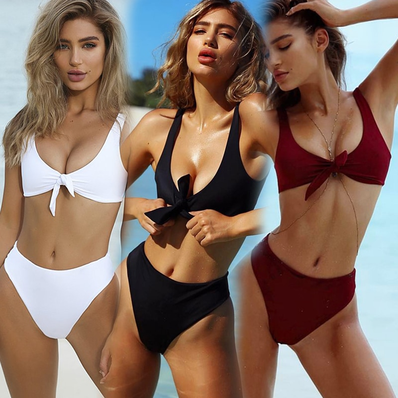 Hot Striped Bikini Set Women Bandage Bathing Suit 2020 New Push Up Micro Swimsuit Brazilian Thong Sexy Swimwear Women Bikinis