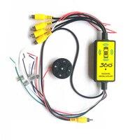 Видеопереключатель четырехв-1 для автомобиля, для заднего вида, камера для слепых зон, видеопереключатель, беспроводной пульт дистанционно...