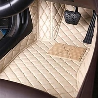 for honda accord cl7 car foot pad waterproof cover artificial leather liner left drive floor mat auto interior rug custom carpet