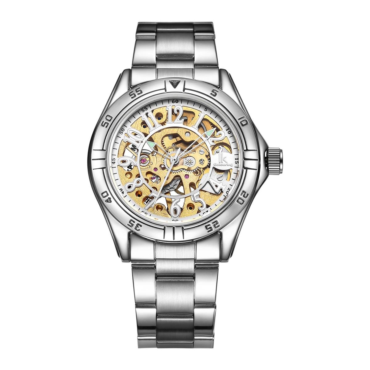 2020 New Manual Mechanical Men's Wind Watch Fashion Casual Stainless Steel Strap Hollow Waterproof Men's Watch Relogio Masculino