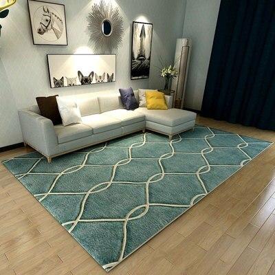سجادة غرفة المعيشة ، فن تجريدي حديث وبسيط ، طاولة قهوة ، غرفة نوم ، كبيرة ، مستطيلة ، مخصصة