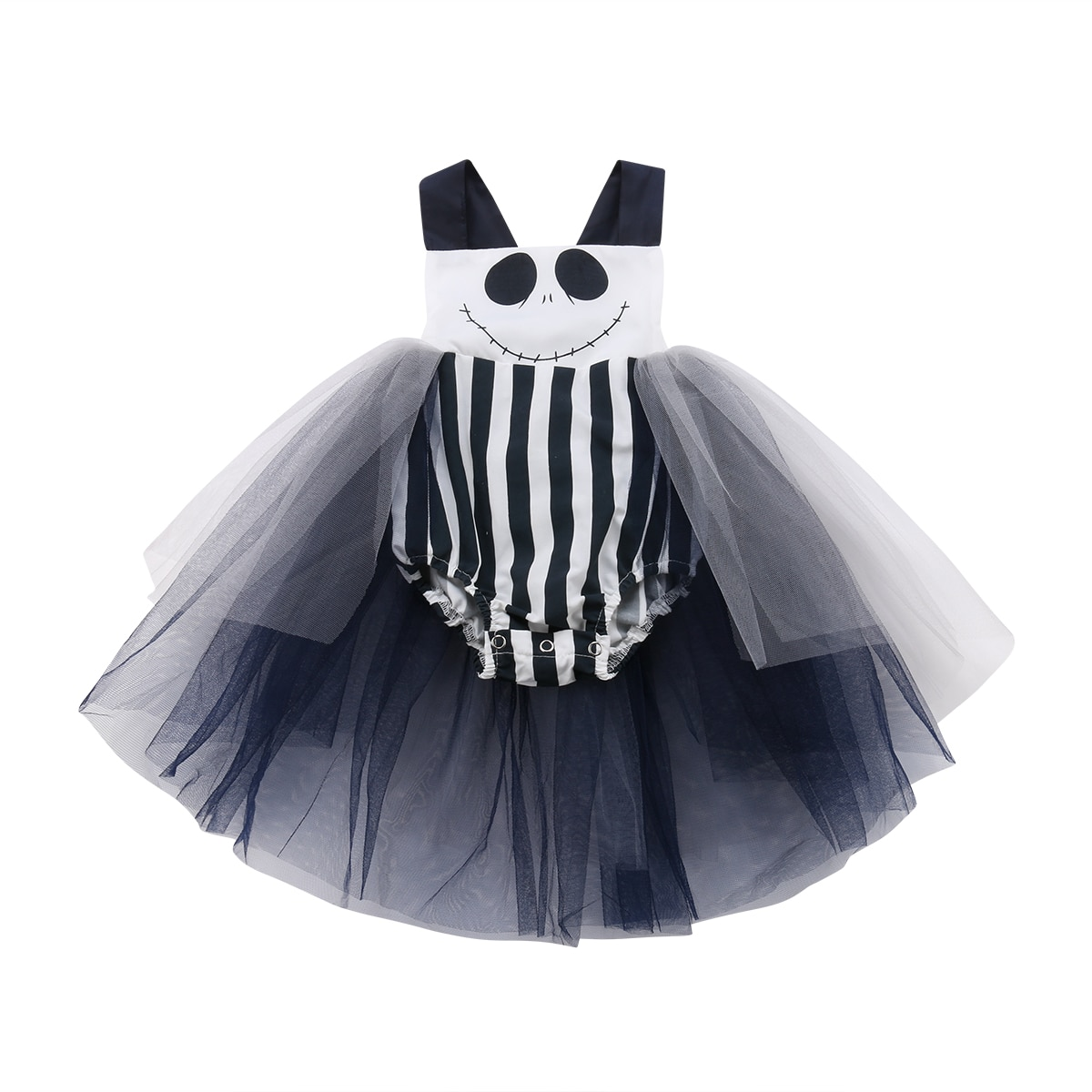 Halloween recém-nascido infantil criança rendas macacão bodysuit roupas roupas da criança do bebê meninas vestido de baile