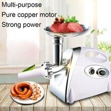 600w 2 vitesses acier inoxydable maison Machine électrique hachoir à viande sans effort cuisine hachoir trancheuse robot culinaire saucisse remplisseur