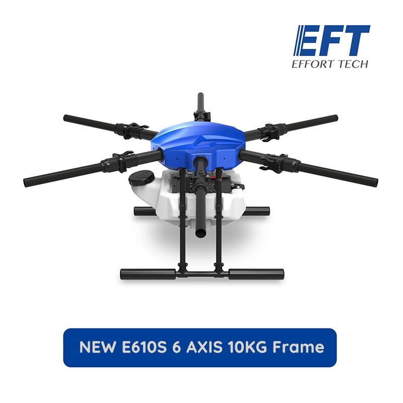 EFT nuevo E610S 10KG 1404mm de distancia entre ejes vuelo plataforma impermeable agrícola Dron rociador 10L