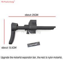 لعوب حقيبة CS لعبة MP5K/MP5 النايلون تلسكوبي بوتستوك مع ترقية المواد قضيب تليسكوبي رصاصة مائية ملحقات المسدس KD63