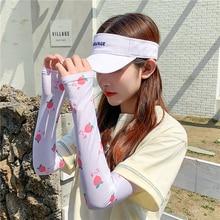 Gants de sport en soie glacée pour femme, Protection solaire, manches chaudes, Anti-UV, haute qualité