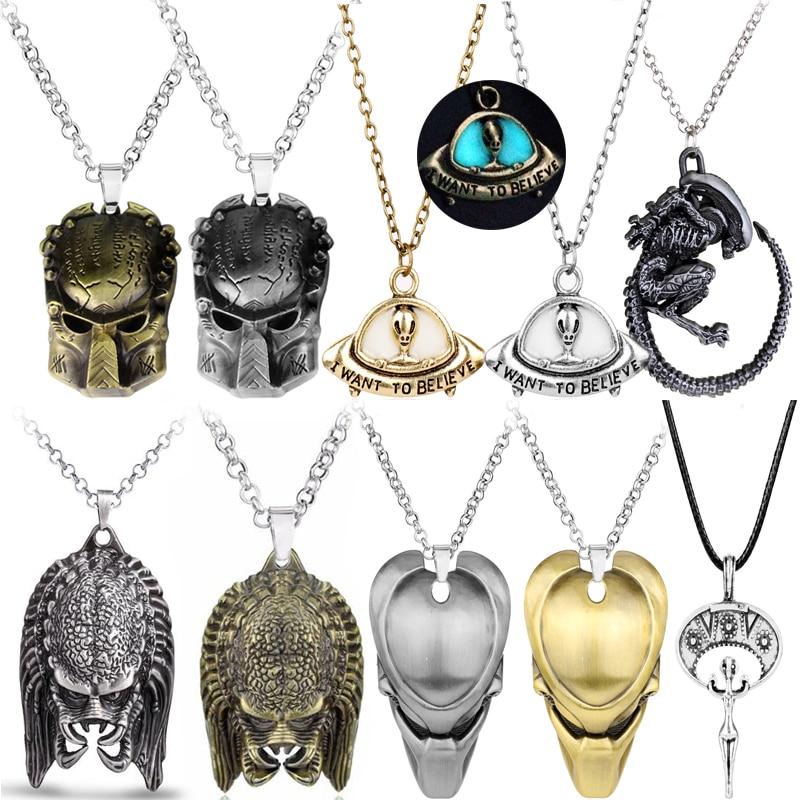 Alienígena de película collar depredador AVP reina colgante Vintage Goth Horror Collar...